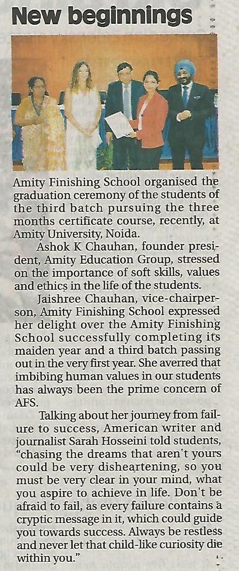 Graduation Ceremony at Amity Finishing School - Amity Events