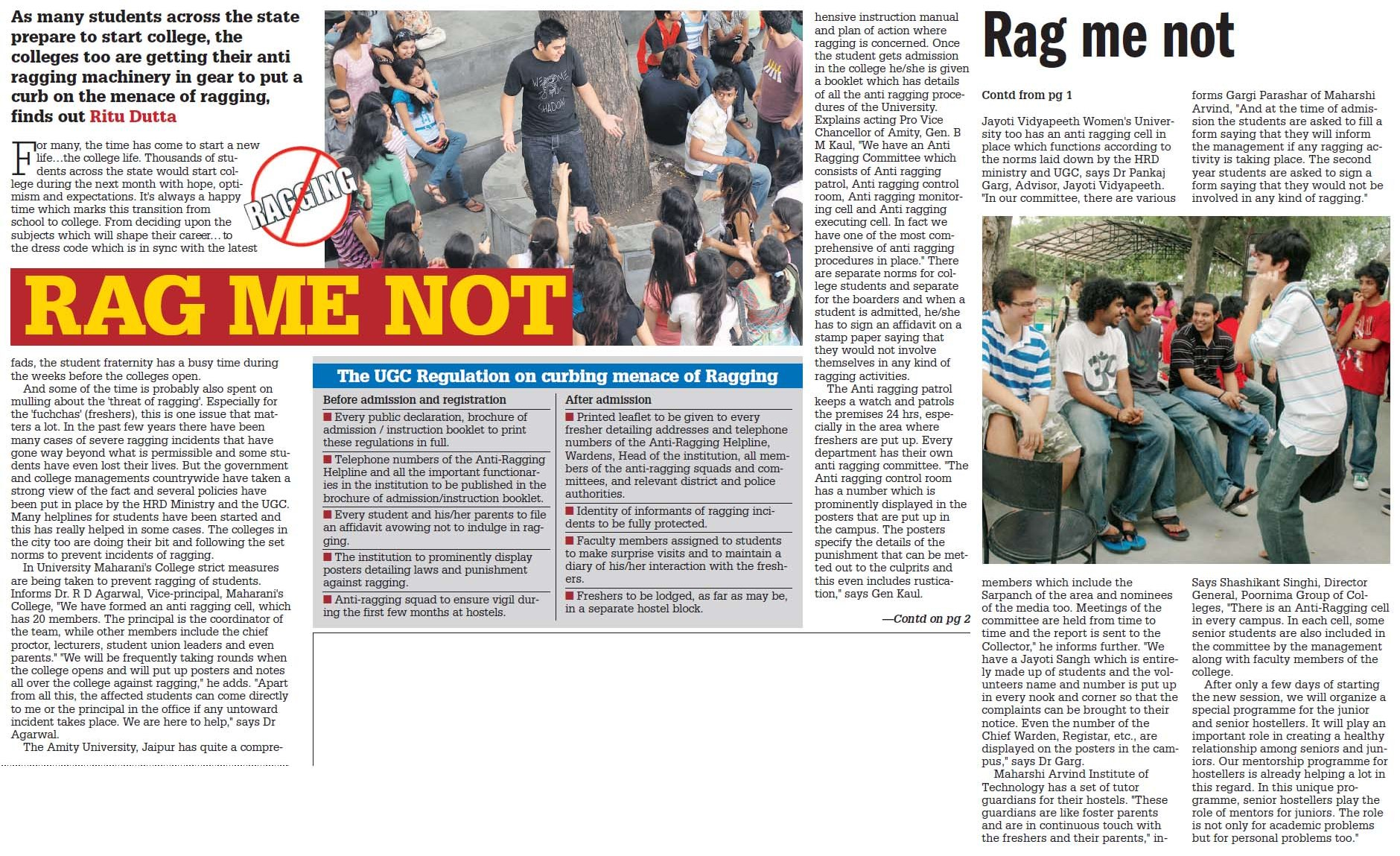 menace of ragging in schools and
