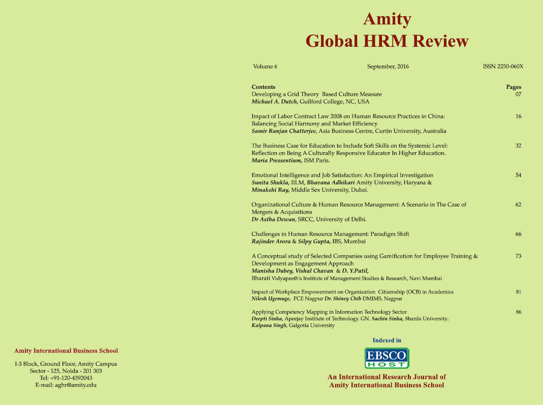 Welcome To Amity Internationl Business School:AIBS Journals