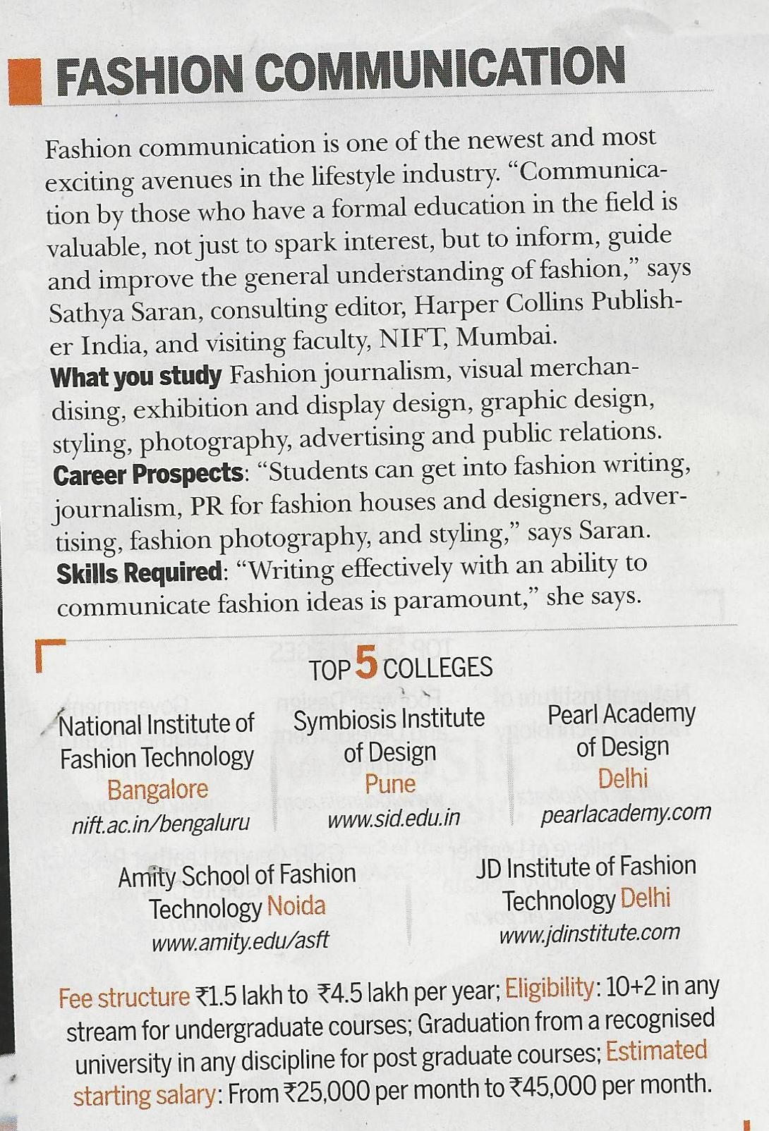 School Of Fashion Technology Pune Fee Structure School Style