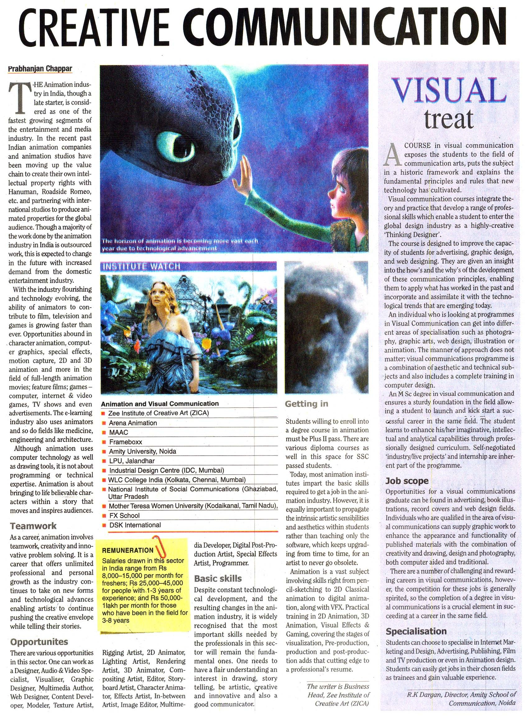 Carere in Creative Communication - Visual Treat - Article by Col