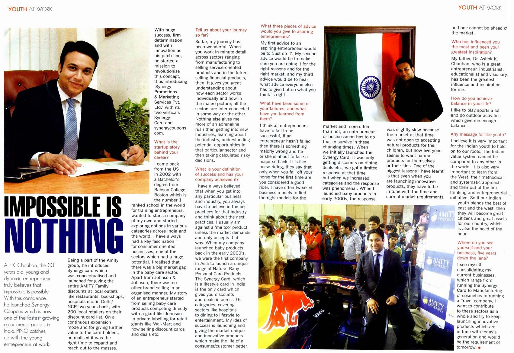 Impossible is nothing - Interview of Mr  Ajit K Chauhan - Synergy